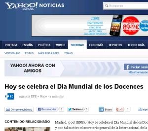 Día del Docence en Yahoo